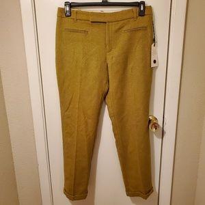 Anthropologie Cartonnier Green Wool Trouser Pants